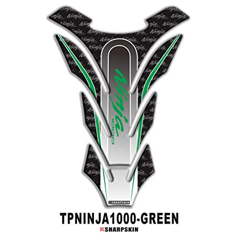 psler Motorcycle 3D Fuel Tank Pad Sticker Protective Decorative Decal for Kawasaki Ninja 1000 (Green)