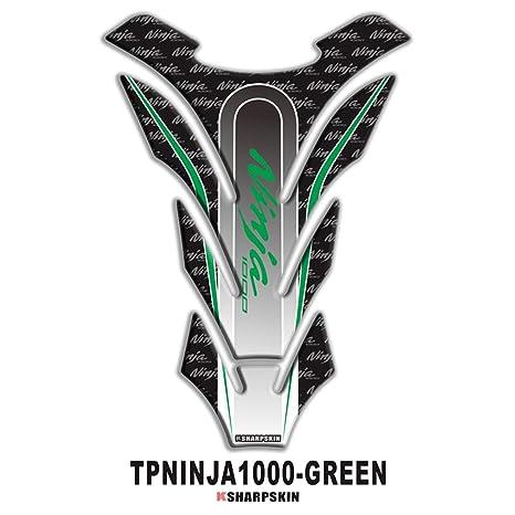 psler Motorcycle 3D Fuel Tank Pad Sticker Protective Decorative Decal for Kawasaki Ninja 1000 (Green)