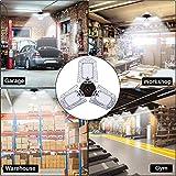 LED Garage Lights, 80W Deformable LED Garage