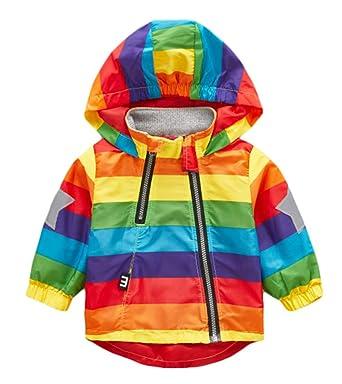b014a7214 Amazon.com  BINBOY Boy Jacket Outerwear Colorful Printed Zipper ...