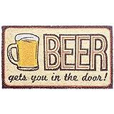 DII 29701 Beer Doormat, Multicolor