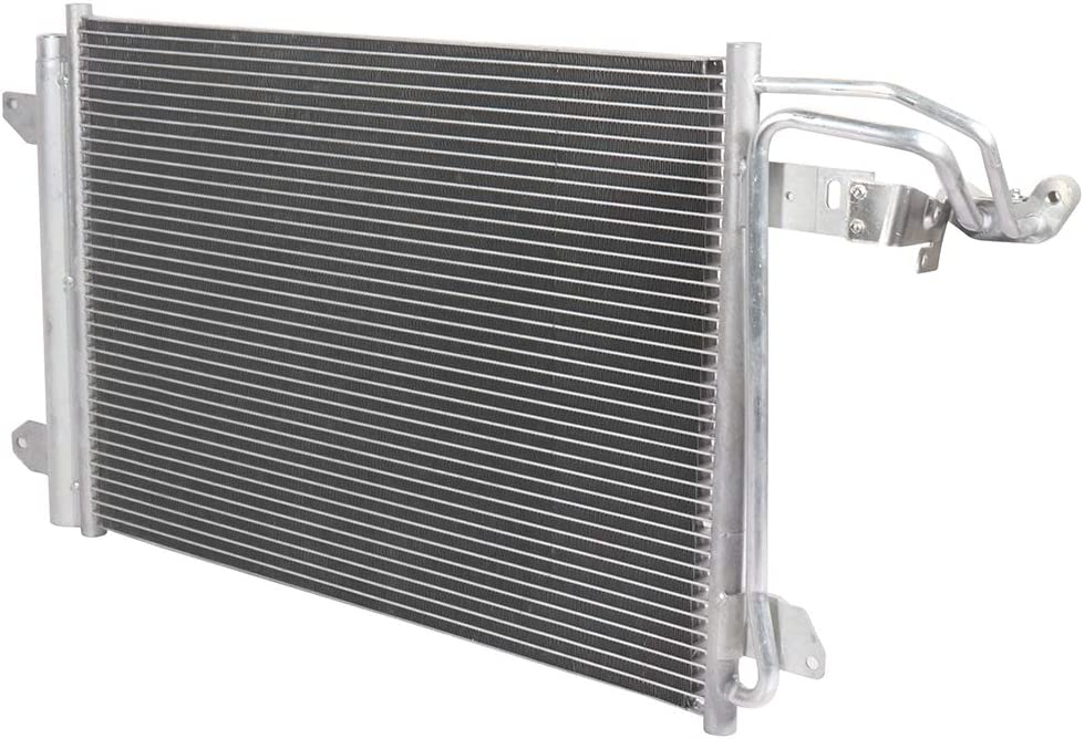 ANGLEWIDE Aluminum Condenser Air Conditioning A//C Condenser fit for 2006 2007 2008 2009 for for for for Volkswagen Rabbit hatchback 2.5L US Stock US Cargo US Shipment