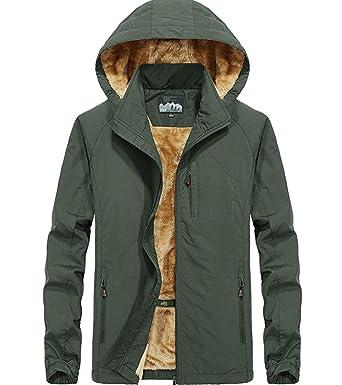 XinDao Men s Mountain Waterproof Ski Jacket Windproof Rain Jacket Army  Green US S Asia 2XL fb5d3e550