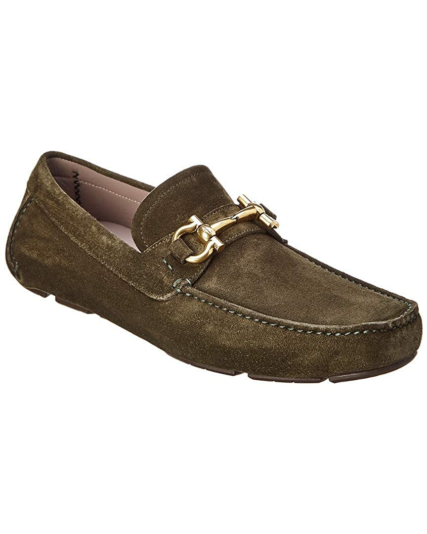 Amazon.com: Salvatore Ferragamo Bit Driver Suede Moccasin, 8.5 Eee: Shoes