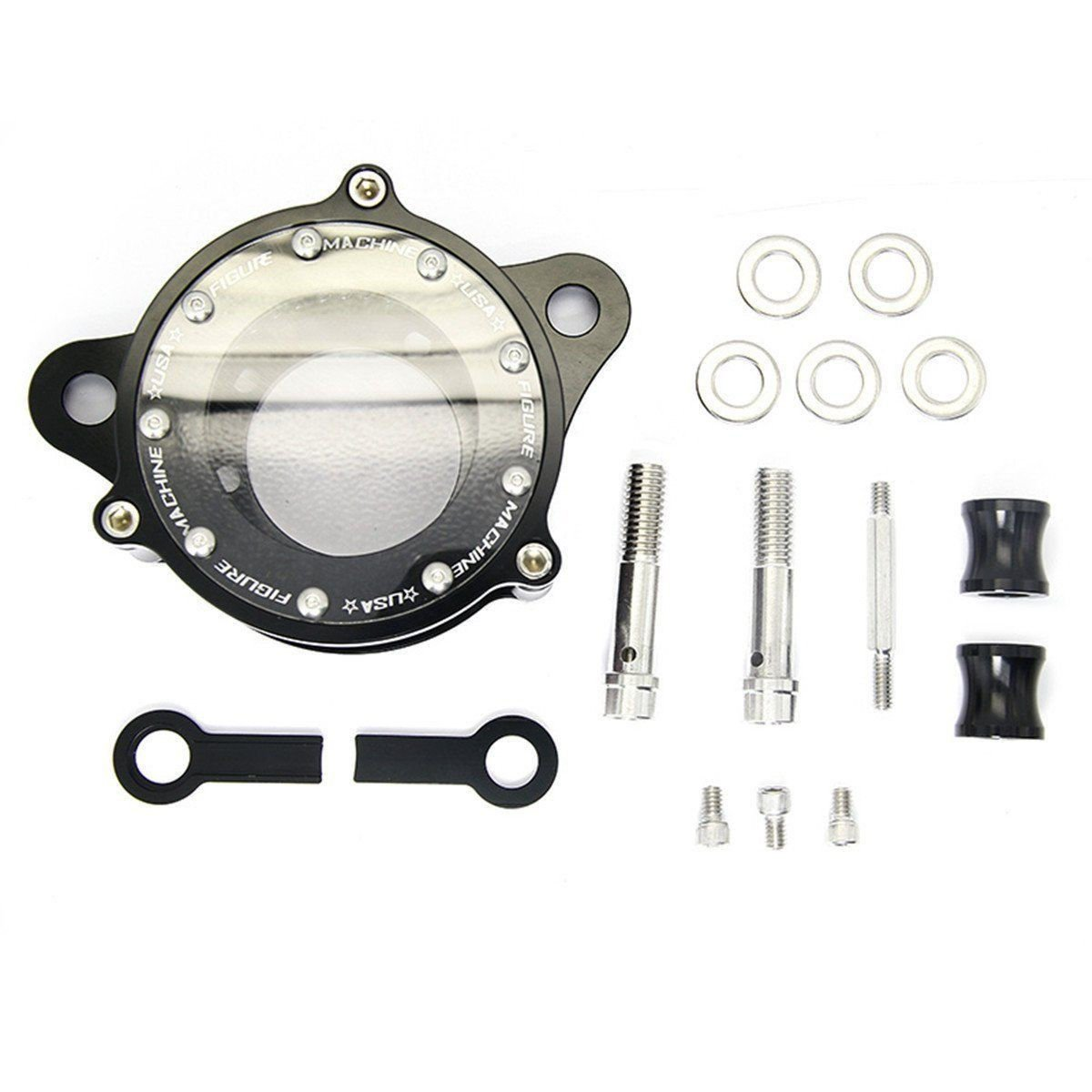Motorcycle Black See-Thru Air Cleaner Kit Intake Filter For Harley Sportster 1200 XL 883 XR1200