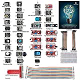 SunFounder 37 Sensor Kit for Raspberry Pi 3, 2 and RPi 1 Model B+, 40-Pin GPIO Extension Board Jump Wires - Including 91 Page Instructions Book