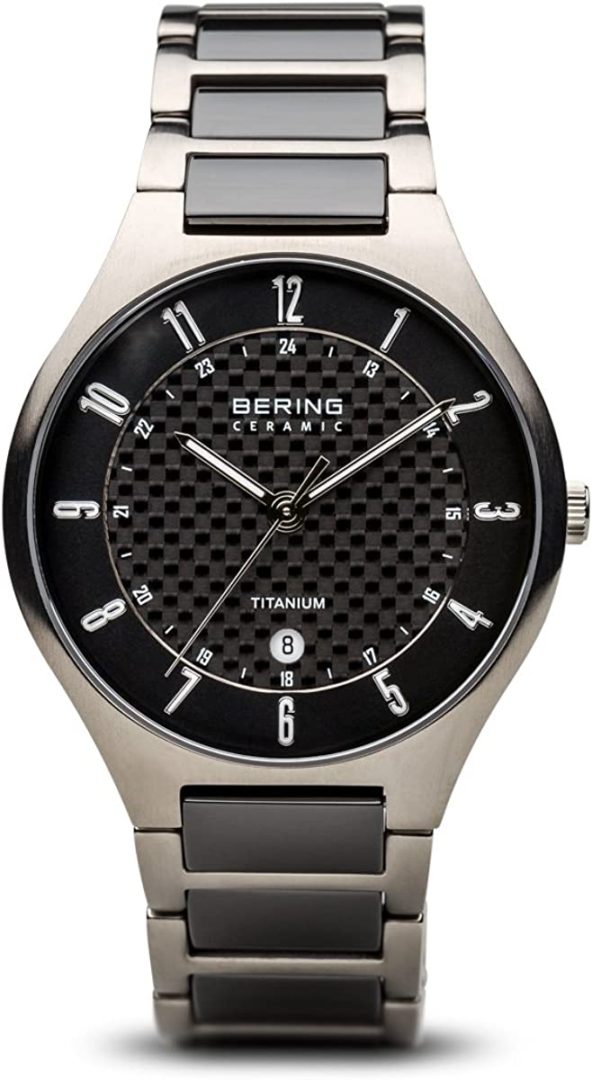 BERING Time 11739-702 Mens Titanium Collection Watch with Titanium Band and Scratch Resistant Sapphire Crystal. Designed in Denmark.