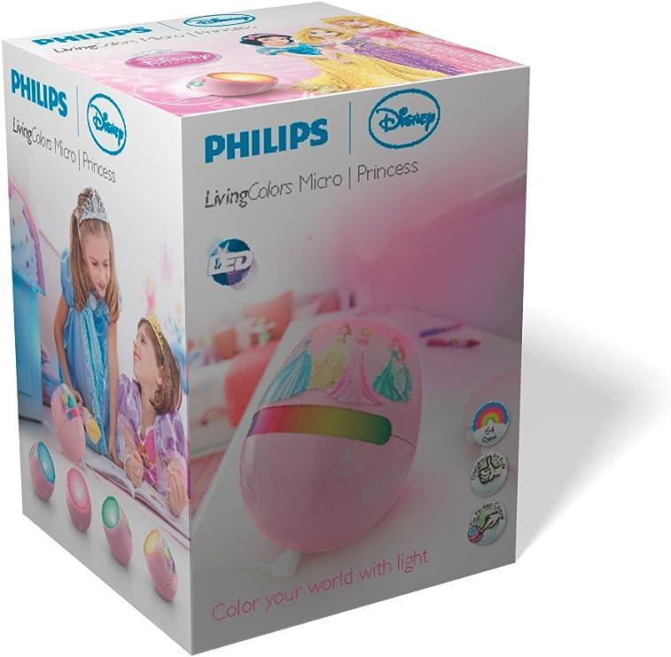Philips Disney Micro Princess - Lámpara diseñada para niños, 220 V