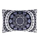 Sleepwish Mandala Pillowcases, Bohemian Flower Boho Geometric Floral Review and Comparison