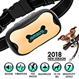 Supercute 2018 NEW VERSION Premier Pet Bark Collar Sound And Vibration No Shock Harmless Humane Anti Bark Training Collar Stop Barking Collar Small Medium Dog Bark Collar Safe Pet
