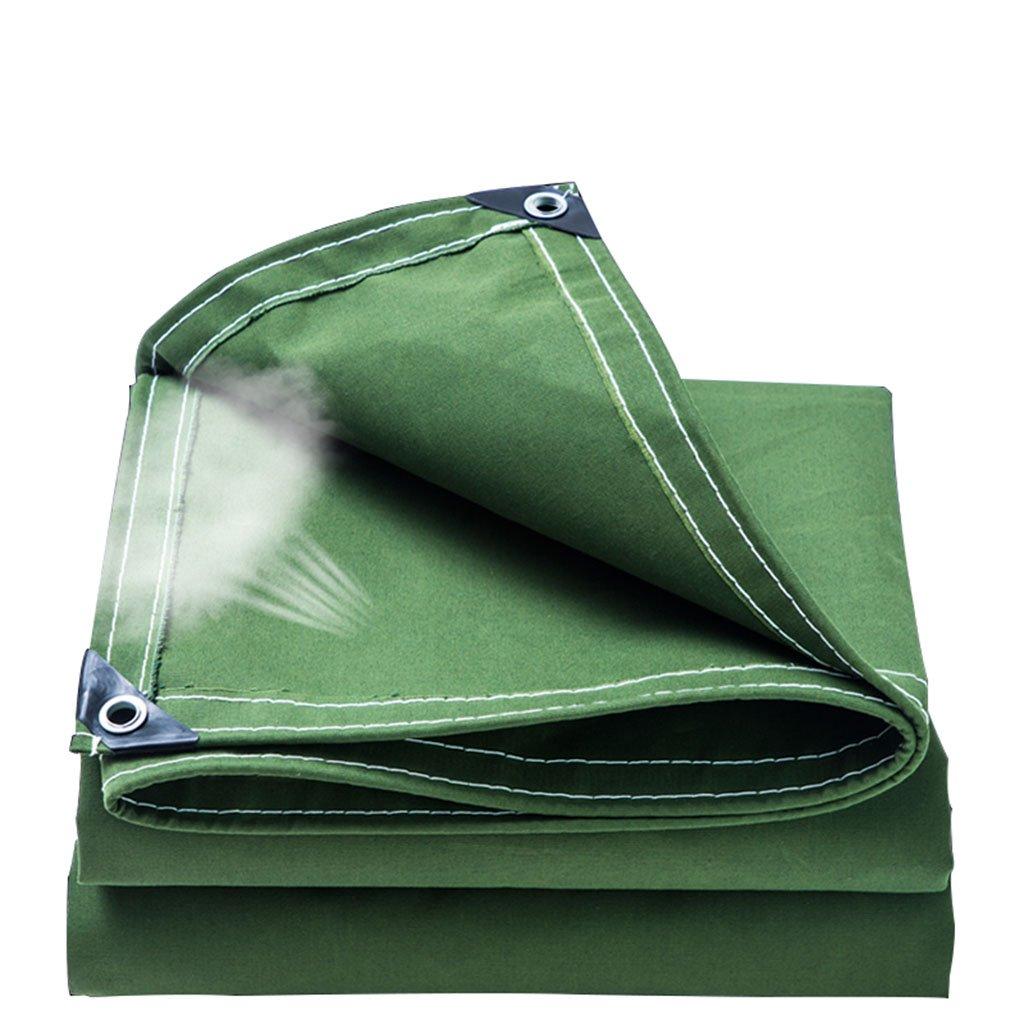 防水シート、厚さ、耐摩耗性、引っ掻き抵抗性、日除け、防音シート、庭園、屋外、キャンプ用テント、ピックアップトラック、マルチサイズに適しています (色 : Green, サイズ さいず : 4m*5m) B07FS7KCR2 4m*5m|Green Green 4m*5m