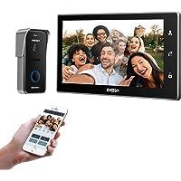 TMEZON 10 Inch Wireless Wifi IP Video Door Phone Doorbell Intercom Entry System with 1x960P Doorbell Night Vision…