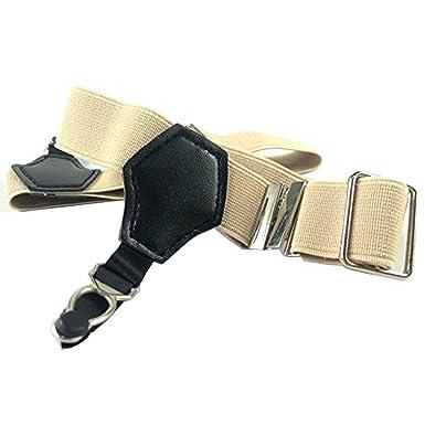 e88e26febba Jelinda 1 Paire Unisexe Sexy Porte-jarretelles avec Clips Métal pour  Chaussettes - Noir - Taille unique (beige)  Amazon.fr  Vêtements et  accessoires
