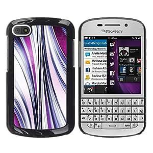 FECELL CITY // Duro Aluminio Pegatina PC Caso decorativo Funda Carcasa de Protección para BlackBerry Q10 // Abstract Purple Flow