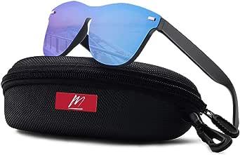 MeetHoo Gafas de Sol Polarizado Hombre y Mujere, Unisex Retro Gafas Polarizadas Para Mujer Hombre UV400 Protección