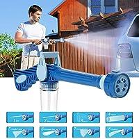 Maso - Limpiador a presión de coche con pistola pulverizadora de metal para jardín o casa, potente varita de manguera
