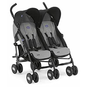 Chicco Echo Twin Stroller Coal - Black