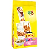 Go-Cat Dry Kitten Food with Chicken, Milk and Added Vegetables, 2 kg - Pack of 4