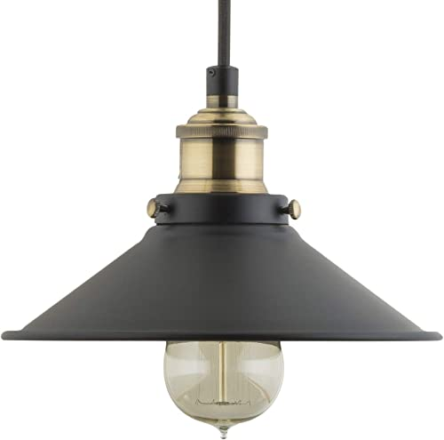 Andante LED Industrial Kitchen Pendant Light Antique Brass Hanging Fixture – Linea di Liara LL-P407-LED-AB