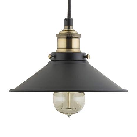 b0b5c2f3422f Andante Industrial Kitchen Pendant Light - Antique Brass Hanging Fixture -  Linea di Liara LL-P407-AB - - Amazon.com