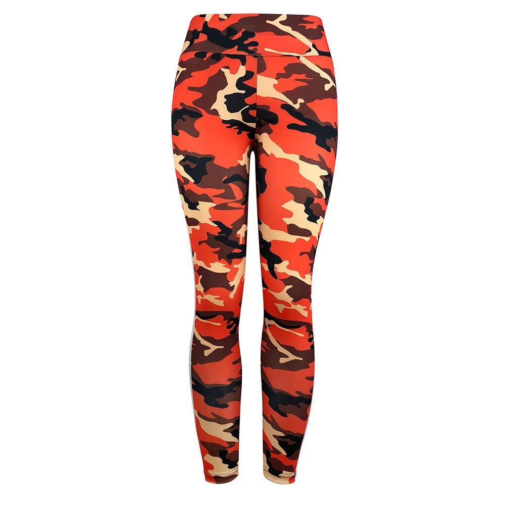 SUMTTER Sporthose Damen High Waist Camouflage-Drucken Sport Leggings  Elastische Tummy Control Yogahose Lange Laufhose  Amazon.de  Bekleidung 1aa877b7e7