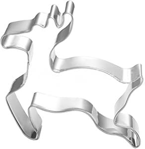 GXHUANG Deer Cookie Cutter - Stainless Steel (Deer) for Anniversary Birthday Wedding Theme Party