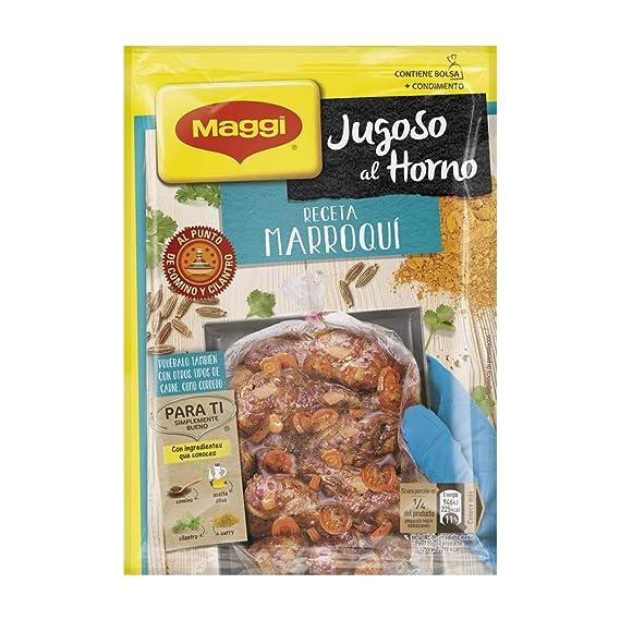 Maggi Jugoso al Horno Receta Marroquí - 1 Bolsa para Horno con Condimentos Marroquí - 38g