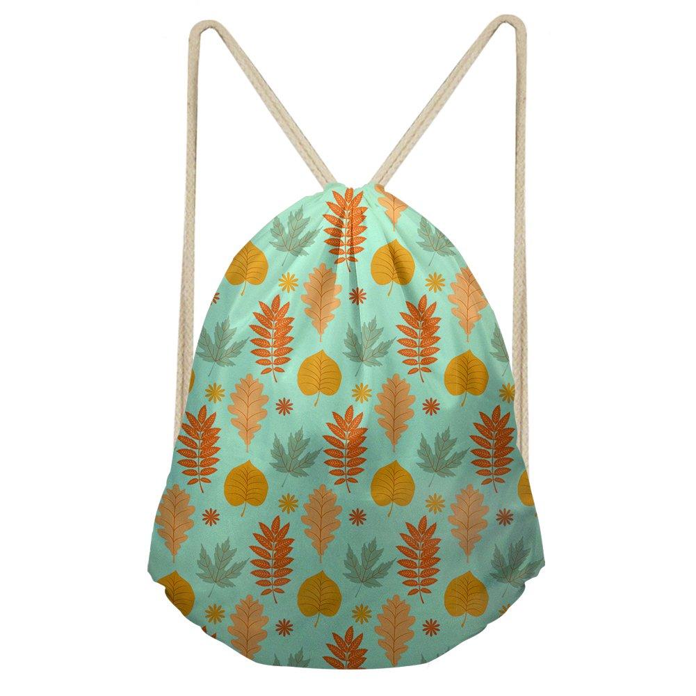 Horeset Drawstring Waterproof Printed Gym Work Backpack for Men Women Travel School for Hiking Yoga Swimming Beach Multicoloured 1