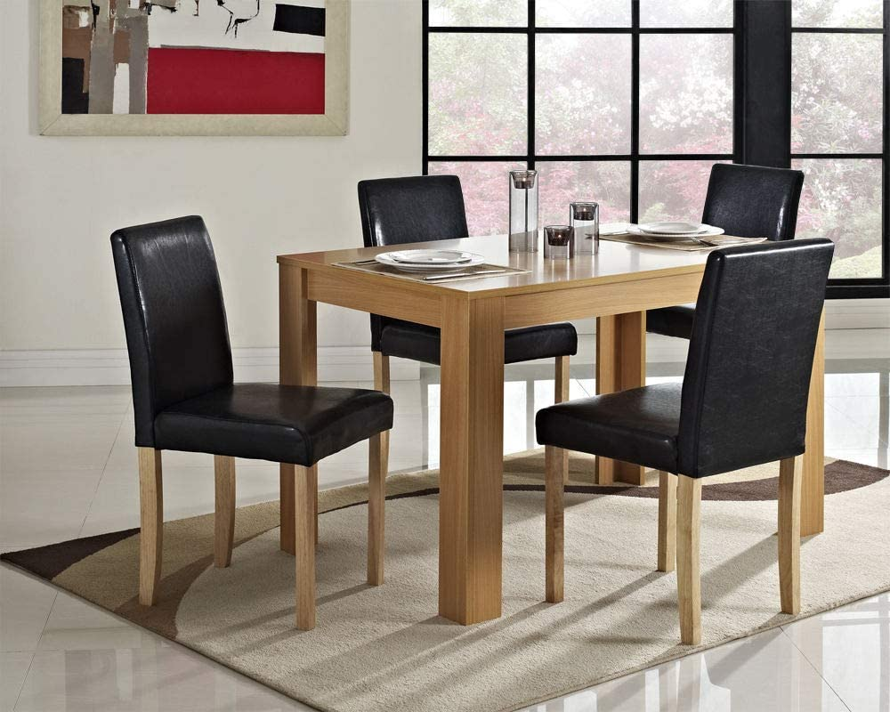 Dining Table 4 Seater Kitchen Wood Mdf Dining Room Seat Home Furniture Oak
