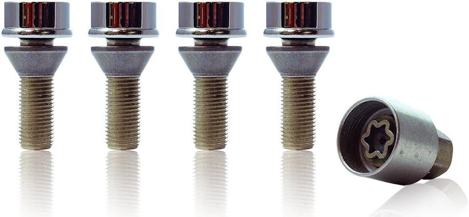 Volva XC70 Models 2004 To 2020 Heyner Germany Stil Block PRO Locking Wheel Nuts Removal Key M14x1.5 Set 4 Locks Thatcham Quality Assured Bolts 359//5