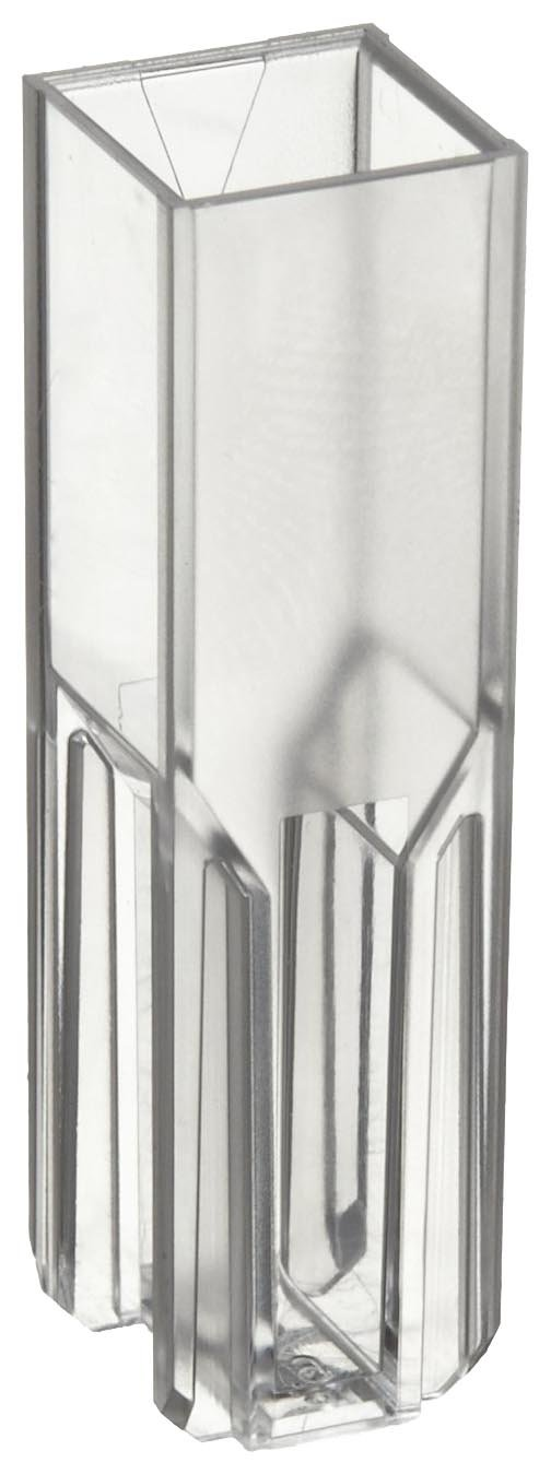 BrandTech 759076D Polystyrene 1.5-3mL Semi-Micro Spectrophotometry Cuvette (Pack of 100) by BrandTech