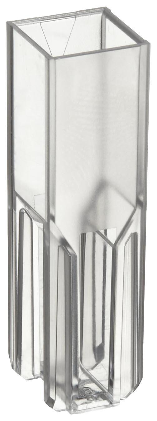 BrandTech 759075D Polystyrene 1.5-3mL Semi-Micro Spectrophotometry Cuvette (Pack of 500)