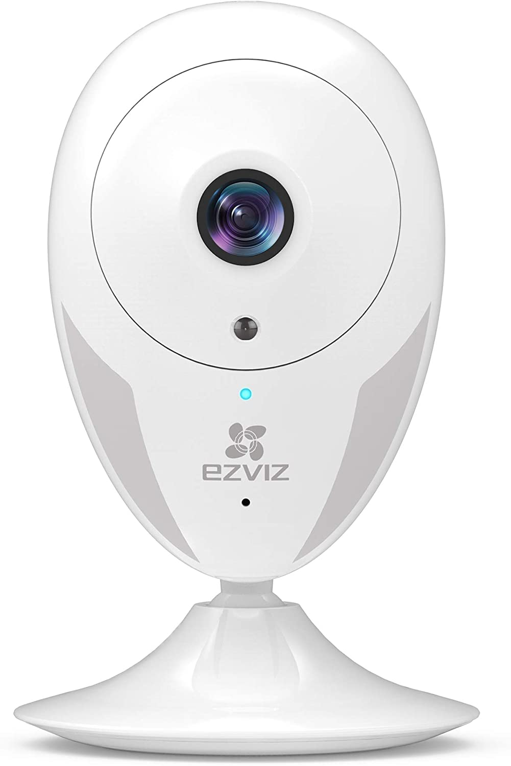 EZVIZ Indoor Wi-Fi Security Camera HD IPC Compatible with Alexa Google Home IFTTT 2.4G WiFi 25ft Night Vision Motion Detection Alert Baby Pet Monitoring 111 Wide Angle Two-Way Audio White CTQ2C