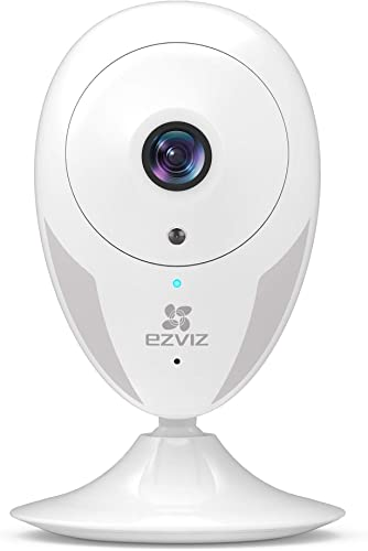 EZVIZ Indoor Security Camera 1080p FHD Motion Alert Night Vision Baby Pet Elder Monitoring 135 Wide Angle 2.4G Wi-Fi 2-Way Audio Smart Home IPC Works with Alexa Google IFTTT iOS Android App WH CTQ2C