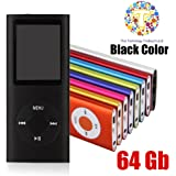 "Thor 64 GB Slim 1.8"" LCD Mp4 Mp3 Player Media/Music/Audio Player with accessories--(Black Color)"