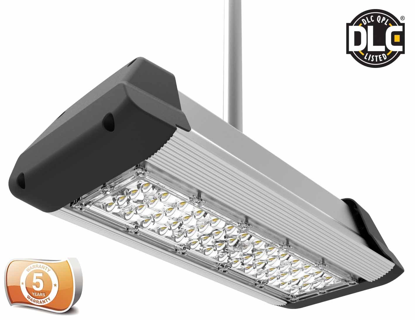 DLC Listed LEDrock Topaz Series 50 Watt LED Parking Garage Light, 5000K Daylight White, 120V-277V, Comparable to 175-250W MH, 5500 Lumens, Parking Garage Light, Warranty Based in Denver, CO, USA by LEDrock