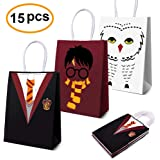 Magical Wizard School Favors Bags for Children Birthday Party Supplies,Dress Up Novelty Decorations Black/Red/White