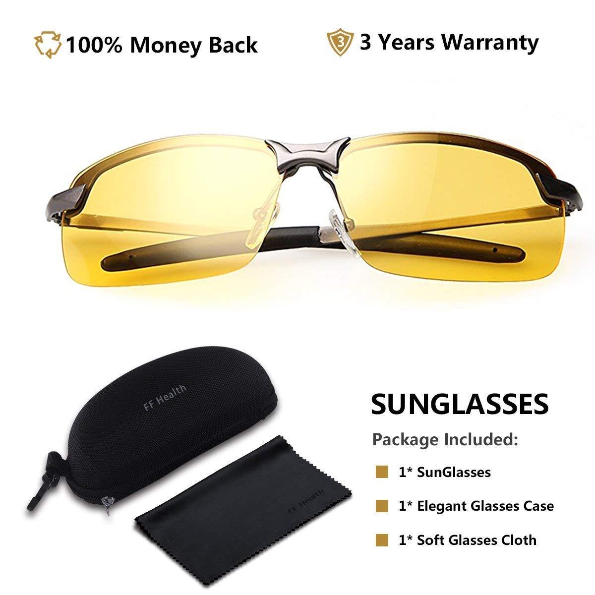 Amazon.com: Gafas Nocturna | Gafas de sol - Para la pesca/Conducción nocturna/Reducción de riesgos | Antideslumbrantes/Protección UV400 de Ojos/HD Vision ...