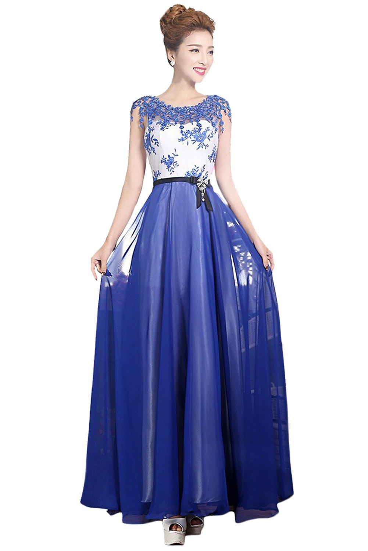 (ウィーン ブライド)Vienna Bride イブニングドレス セレブリティドレス ロングドレス レディース 可愛い 結婚式 花嫁ドレス プリンセス レッド ラウンドネック B06ZY29LN3 17 K K 17