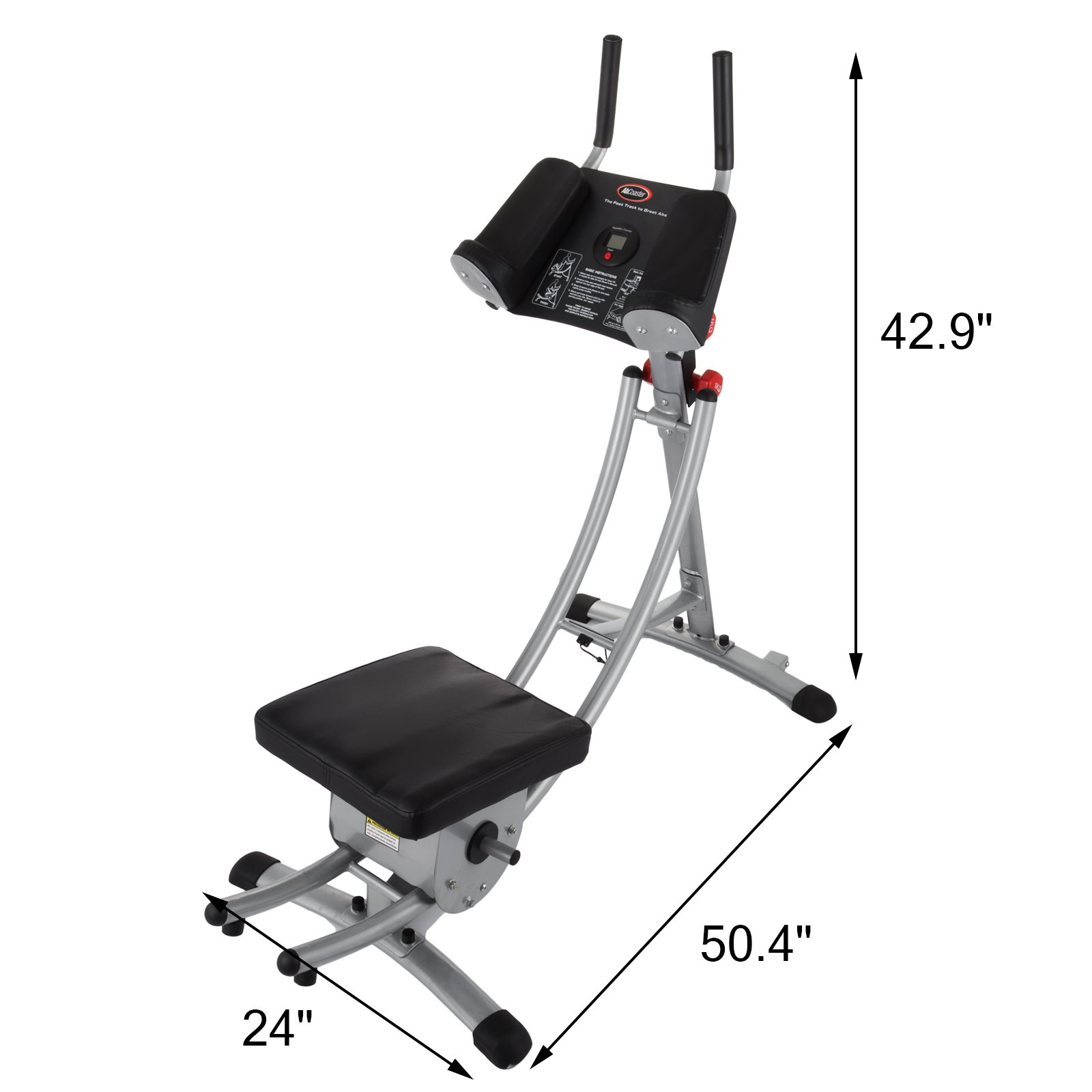 Popsport Abdomen Machine 330LBS Abdominal Coaster Abdomen Exercise Equipment with Adjustable Seat for Abdominal Muscle Training (Ab Coaster with 4 Dumbbells) by Popsport (Image #3)