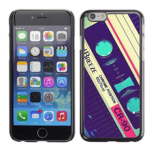 GIFT CHOICE / Slim Hard Protective Case SmartPhone Shell Cell Phone Cover for Apple Iphone 6 Plus 5.5 // cassette retro music 90's vintage record // (Iron Vintage Vi 90)