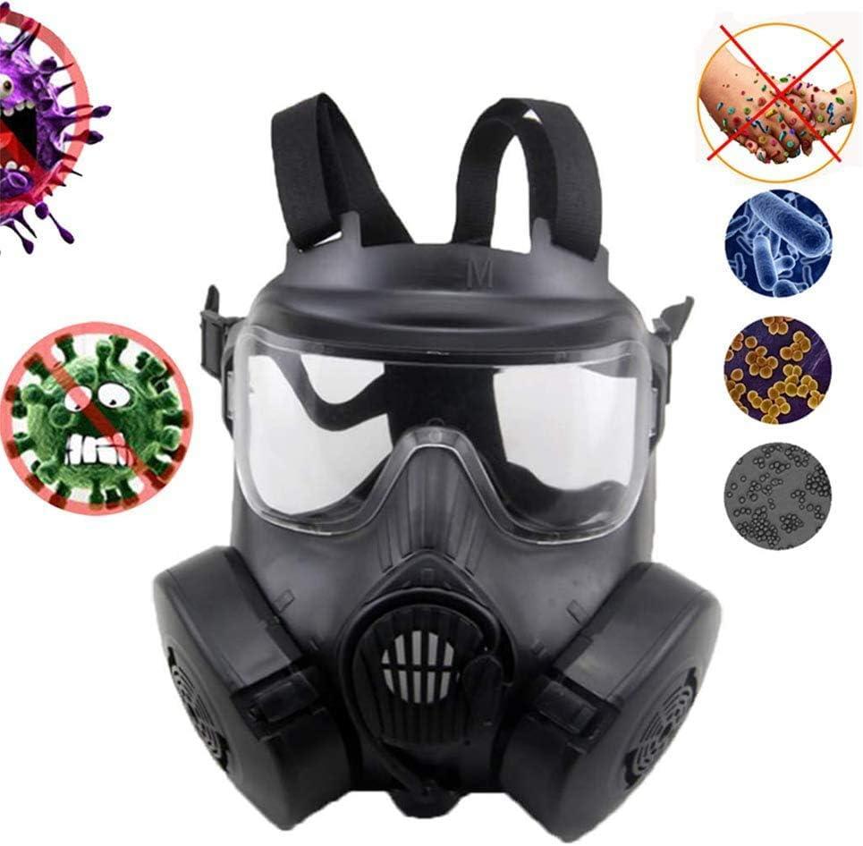 WFGZQ Equipo De Protección De Seguridad, De Careta Kits Equipo De Respiración con Gafas para La Protección contra Vapores Orgánicos E Inorgánicos, Gas Ácido Y De Partículas