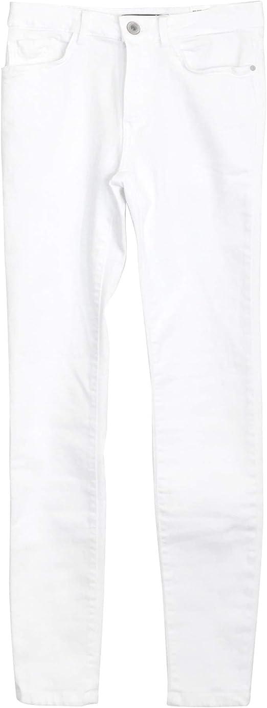 Zara 5899/055/250 - Pantalones con Tirantes para Mujer Blanco ...