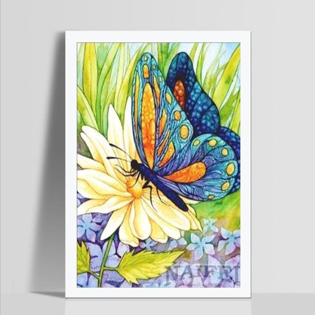 Diamond Painting Kits For Adults,DIY 5D-Butterfly-Crystal Rhinestone Diamond Embroidery Paintings Pictures Arts Craft for Home Wall Decor Pandaie AAA-26