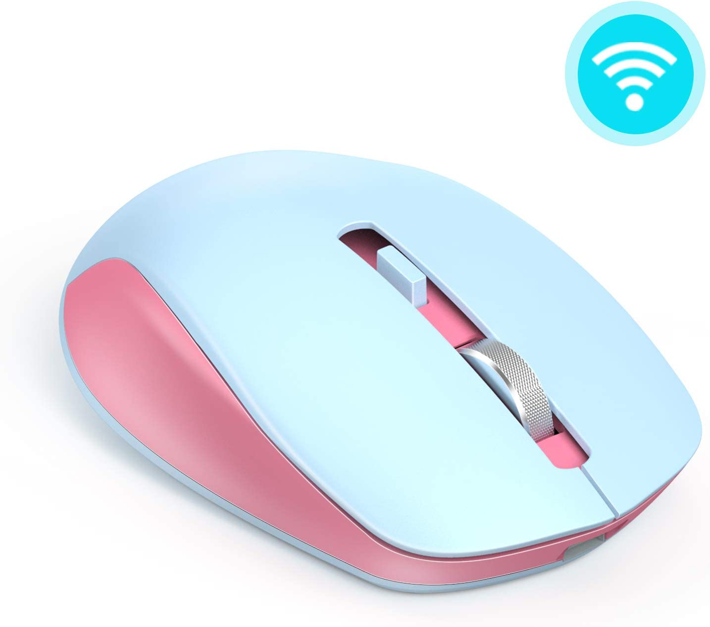 Wireless Mouse, seenda 2.4G Wireless Computer Mouse with Nano Receiver 3 Adjustable DPI Levels, Portable Mobile Optical Mice for Laptop, PC, Chromebook, Computer, Notebook, Pink & Blue