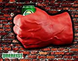 Uberfist Red Lefthand  Avengers Beer Fist, Beer Koozie, Beverage Holder, Bottle, Can, Cup, Drinking Fist, Foam Beer Fist, Gift
