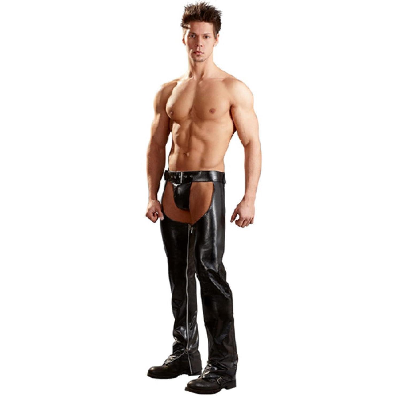 Erotische Herren Cowboy Hose mit String - Pofrei S - XXL Schwarz Svenjoyment Underwear Größe XXL