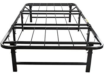 merax platform metal bed frame and mattress foundation adjustable box spring steel bed frame full
