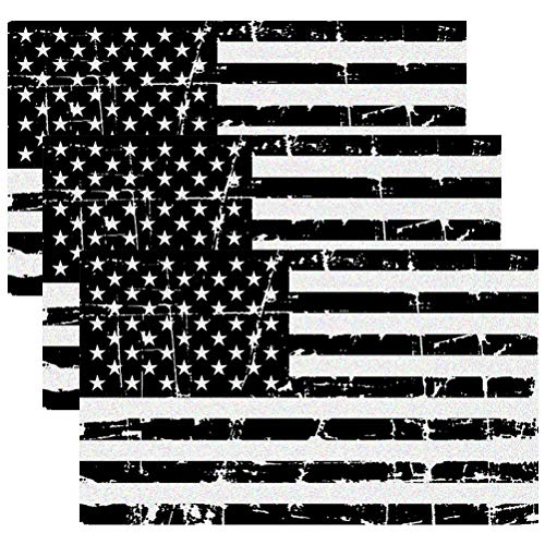- Creatrill Reflective Distressed Subdued American Flags Decal Matte Black - 3 Packs 3x5 in. Tactical Military Tattered USA Flag Stickers for Cars and Trucks, Hard Hat or Lunch Box