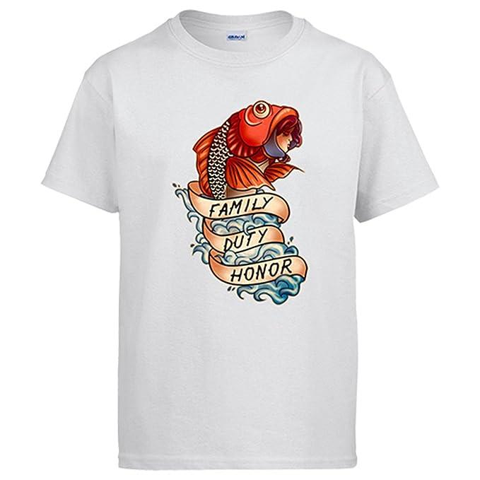 Camiseta Juego de Tronos casa Tully familia, deber y honor: Amazon.es: Ropa y accesorios